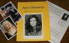 FAYE DUNAWAY Autographed Photo & Photos Bonnie & Clyde HOT