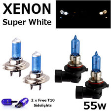 H7 HB3 55w WHITE XENON UPGRADE HID FULL FRONT SET Headlight Bulbs FULL/DIPPED