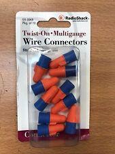 10 x Twist On Multi-Gauge Wire Connectors - Fits 12-22 Gauge - Radio Shack - NEW