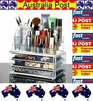 OZ Holder Cosmetic Makeup Organizer 4 Drawer Storage Jewellery Box Clear Acrylic