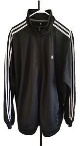 Adidas Track Jacket Mens 2XL  (black and white)