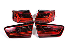 Inner Outer LED Tail Lights Rear Lamps SET Fits AUDI A6 C7 Facelift 2014-