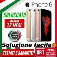 S00_SMARTPHONE APPLE IPHONE 6 128GB BIANCO RIGENERATO SBLOCCATO! BRT 24H!!