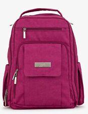 Ju Ju Be Chromatics Be Right Back Backpack Baby Diaper Bag Raspberry Jam NEW