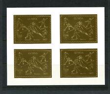 Guyana1992 Olympics/Soccer/Skiing Michel 3980BA-81BA Sheetlets SPECIMENS