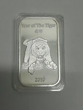 Suisse Gold Tiger 2010 1 oz .999 Silver Bar