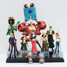 Anime 10pcs One Piece Action Figure sanji franky nami luffy Zoro boa brook