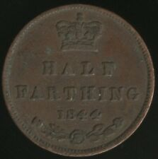 More details for 1844 victoria half farthing coin   british coins   pennies2pounds