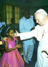 552- CARTE  VATICAN VISITE PAPE JEAN PAUL  II   AU  NIGERIA