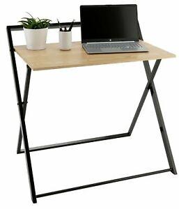 Habitat Compact Folding Office Desk - Black & Oak