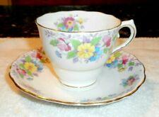 Vintage Colclough Pink & Yellow Floral Teacup w Matching Saucer