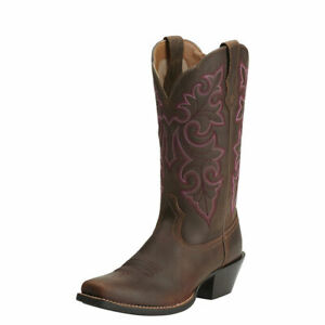Ariat Womens Round Up Square Toe Western Boots New
