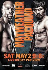 Mayweather V Pacquiao Fight Of The Century 2015 World Title Fight Promo Poster