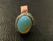 GORGEOUS OPALITE STAINLESS STEEL RING 10 NWT