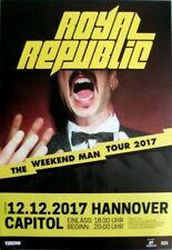 ROYAL REPUBLIC - 2017 - Konzertplakat - Weeknd Man- Tourposter - Hannover