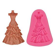 Wedding Dress Silicone Cake Mould Fondant Sugar Craft Chocolate Decorating Tools