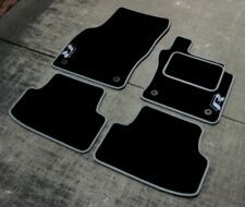 Volkswagen Golf Mk7 (2013-Present) Car Mats in Black/Grey + R-Line Logos (x2)