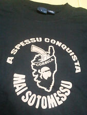 TEE SHIRT NOIR CORSE TSHIRT - CORSICA - JAMAIS SOUMISE - CORSE TETE DE MAURE