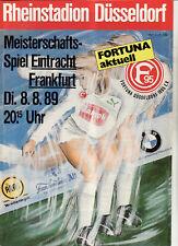 BL 89/90 Fortuna Düsseldorf - Eintracht Frankfurt