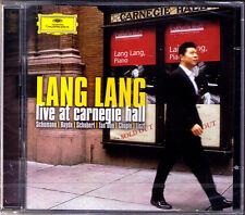 LANG LANG LIVE AT CARNEGIE HALL 2CD Chopin Haydn Liszt Schubet Schumann Tan Dun
