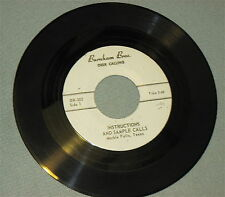 """""""DEER CALLING"""" on 45rpm Record for HUNTING/PHOTOGRAPHY by """"BURNHAM BROTHERS"""""""