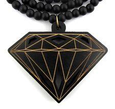 Wooden Diamond Supply Co. Pendant Hip Hop Chain Necklace Good Custom Wood BBC