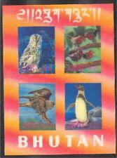 Superb Souvenir sheet 3-D BIRDS from BHUTAN, MNH **!