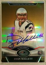Ryan Mallett 2011 TOPPS Platinum Rookie Autographed Gold Refractors #136 - 03/10