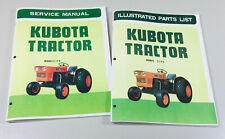 Kubota L175 Tractor Service Repair Manual Parts Catalog Shop Set Workshop