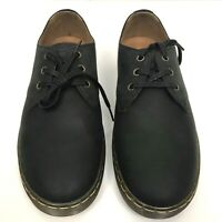 Dr Martens Coronado Men's Lace Up Shoes Black Wyoming Oiled Leather Size 8 NEW