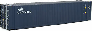 Walthers HO Scale 45' CIMC Shipping Container Cronos (Dark Blue/White)