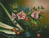 Van Hunt - Contemporary Oil, Fruit and Flowers in Tazza