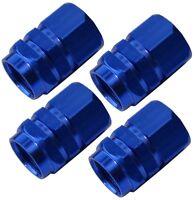 4x bouchons de valve bleu en alu pour auto moto vélo voiture utilitaire
