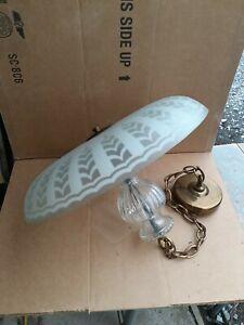 Vintage Globe Lighting 30's/40s art deco Glass Ceiling Light