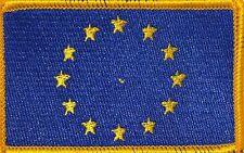 European Union (EU) Flag Iron-On Tactical Patch Gold Border #51