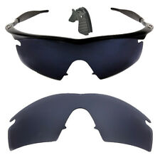 Black  Polarized Replacement lenses for-Oakley M Frame strike with nose clip