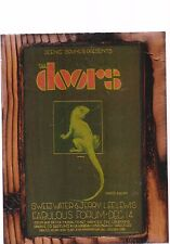 THE DOORS,JERRY LEE LEWIS 1968 LA FORUM CONCERT AD COPIED ON A WOODEN PLAQUE