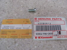 NOS OEM Kawasaki Pan Head Screw 5X12 1982-2004 KLT250 Mojave 250 JF650 220B0512