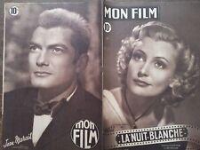 """MON FILM 1949  N 130 """" LA NUIT BLANCHE """" avec CLAUDE FARRELL et PIERRE BRASSEUR"""