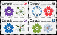 Canada Mint NH VF Scott #511a Block of 4 25c 1970 Expo'70 Stamps