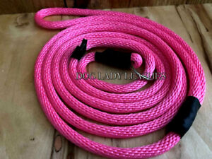 """SMALL DOG SLIP LEAD/LEASH-UP TO 25 LBS-PINK-1/4"""" X 6' LONG- NEW-  (110)"""