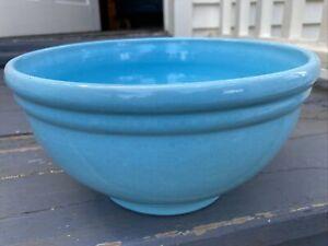 "Vintage Catalina Isle Island California Pottery Green Blue 11"" Mixing Bowl"