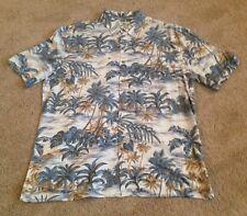 Island Shores Short Sleeve HAWAIIAN Shirt MENS XL 100% Rayon Ivory NWT