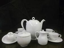 RICHARD GINORI-Servizio CAFFE' porcellana bianco liscio 6 tazze-COFFEE SET WHITE