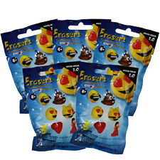 Fun 2 Play Toyz - Emoji Erasers - Blind Packs (5 Pack Lot - 15 Erasers Total)