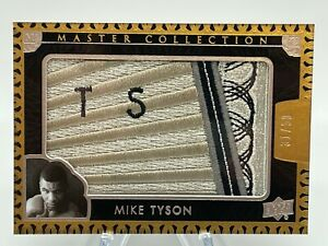 2016 UD All Time Greats Master Collection MIKE TYSON Logo Patch 31/50 Silver