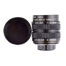 35mm F1.7 CCTV Lens E-P3 E-P5 E-PL3 E-PL2 E-PL1 GF5 GF3 GH2 G2 G3 C Mount BLACK