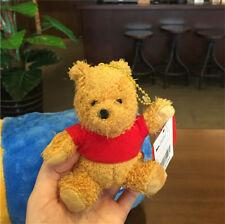 Disney Store Christopher Robin Winnie Pooh bear Plush Toy 10cm Keychain Clip