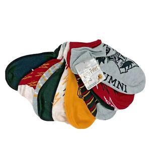 Harry Potter 10 pair no show women big kids socks shoe size 4-10 red multi color