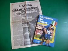 Lo scudetto del Verona Hellas Campione d'Italia 1984-85 Scemma con Gianni Brera